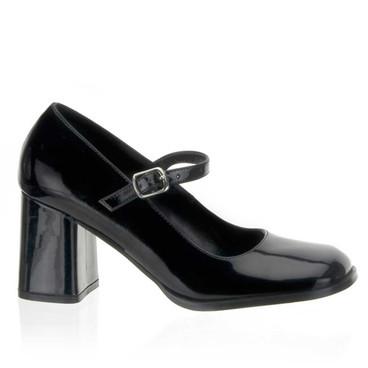 "GOGO-50, 3"" Block Heel Mary Jane Shoes by Funtasma"