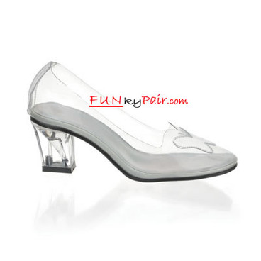 Funtasma CRYSTAL-103, Women's Clear Crystal Shoes