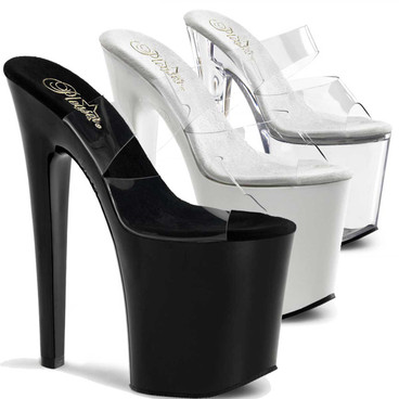 8 Inch Heel Dual Band Platform Stripper Shoes Xtreme-802