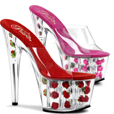 Pleaser | ADORE-701FL, Slide with Flowers