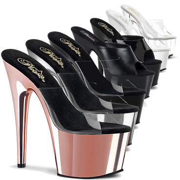 "Stripper Shoes | ADORE-701, 7"" Platform Slide by Pleaser"
