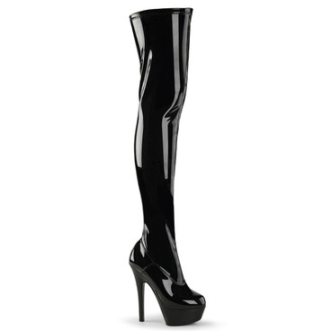 KISS-3000, 6 Inch Stripper Stretch Thigh high boots by Pleaser