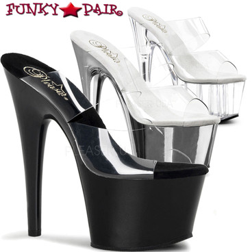 Stripper Shoes | ADORE-702, Two-Band Platform Slide Dancer Shoes