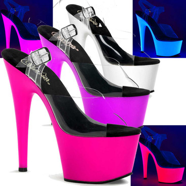 Stripper Shoes | Neon Bottom Ankle Strap ADORE-708UV