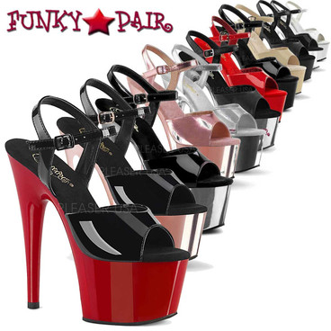 Stripper Shoes ADORE-709, 7 Inch Platform  Ankle Strap Sandal | FunkyPair.com