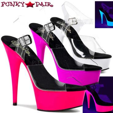 Stripper Shoes Clearance Sales | DELIGHT-608UV, Platform UV Sandal