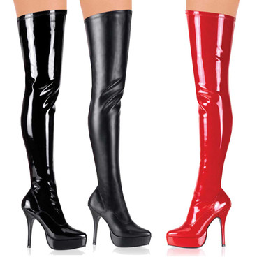 Fetish Boots | INDULGE-3000, Stretch thigh high boots