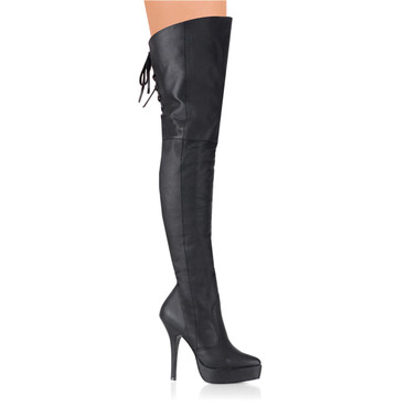 Fetish Thigh High leather boots   Devious INDULGE-3011