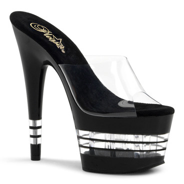 Pleaser Shoes | Adore-701LN, Sexy Shoes Platform Clear Line Bottom Sandal