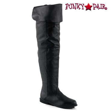 Pleaser | | Raven-8826, Thigh-high boot Black Leather  sz 6-14 *