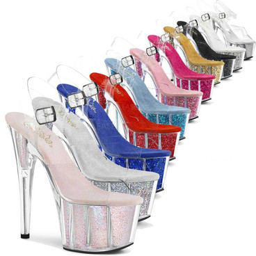 ADORE-708G, Glitter Exotic Dancer Shoes by Pleaser Shoes