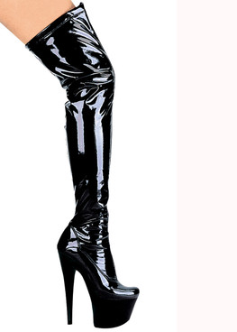 "Ellie Shoes | 709-Fantasy 7"" Fetish Thigh high boots"