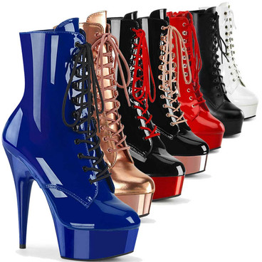 Stripper Platform Ankle Boots Delight-1020 by Pleaser