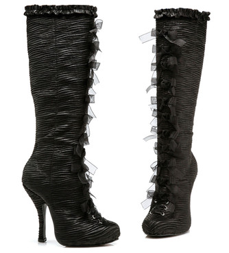 "4"" Satin Knee Boots Ellie Shoes 