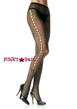 Black Fishnet PantyHose with butterfly  Leg Avenue 9710