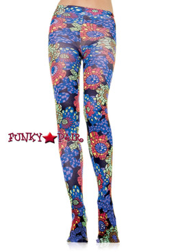 7147, Opaque tights with kaleidoscope prints