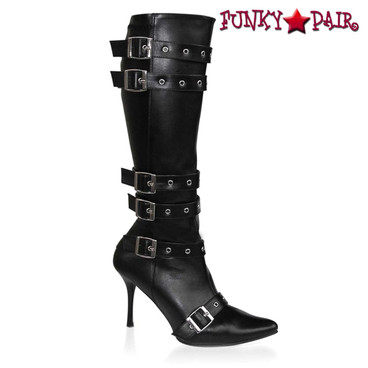 SPICY-138, Straps Costume Knee High Boot | Pleaser