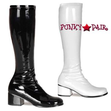Pleaser | Retro-300, 2 Inch Go Go Boots | Funtasma