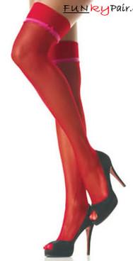 1004, Sheer stocking with ruffle trim