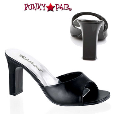Fabulicious | ROMANCE-301-2, Square Heel Slide Shoes