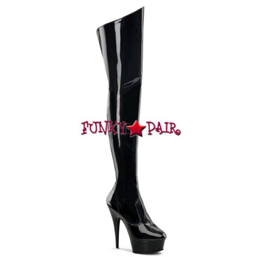 Stripper Boots | DELIGHT-3010, Platform Thigh High Boots