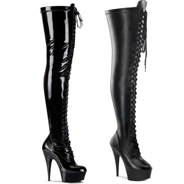 Pleaser | Stripper Thigh High Boots DELIGHT-3023