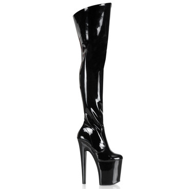 Pleaser | XTREME-3010, 8 Inch Thigh High Boots