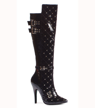 "511-Gwen 5"" heel Knee High Boot with Stud Ellie Shoes"