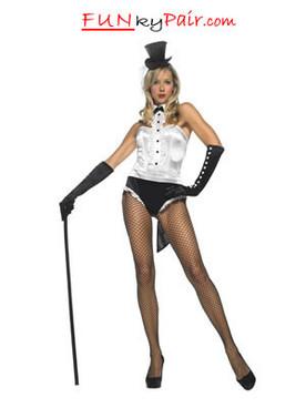 LA-83436, Sexy Tuxedo Showgirl Costume