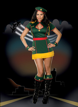 4 Star Pin-up Costume - CLEARANCE SALE ARE FINAL