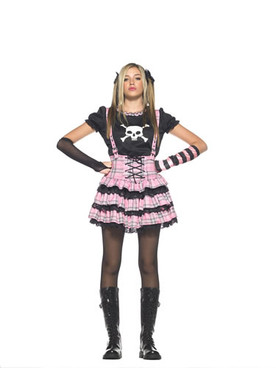 LA-J48007, Teen Punk Rock Princess Costume