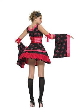 LA-J48010, Teen Goth Geisha Costume