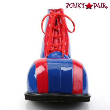 CLOWN-05 Bump Toe Shoes by Funtasma Front View