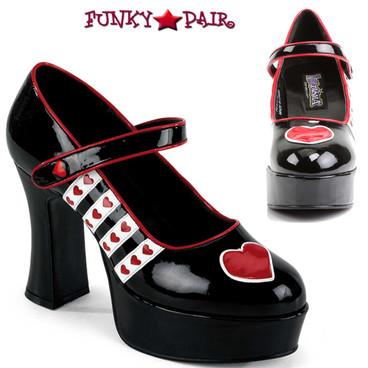 Funtasma | QUEEN-55, Queen of Hearts Platform Costume Shoes
