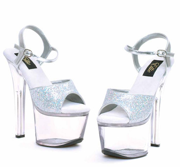 "Ellie 711-Flirt-G 7"" Glitter Platform Stripper Shoes"