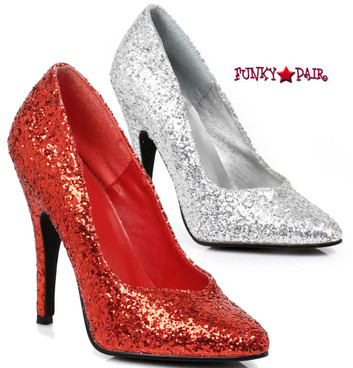 511-Glitter, 5 Inch High Heel Glitter Shoes Made by ELLIE Shoes