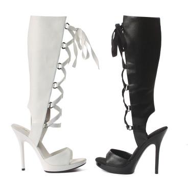 "5"" Knee High Sandal Ellie Shoes | 502-Holly"