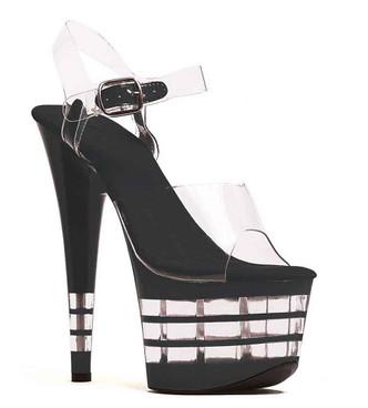 """Ellie Shoes   709-Stack 7"""" Platform Lined Sandal"""