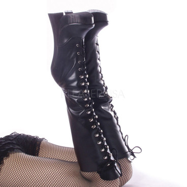 Fetish Platform Boots | FEMME-2020 Black Leather