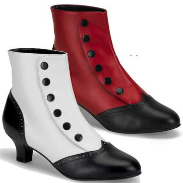 Bordello | FLORA-1023, Ankle Boots with Buttons