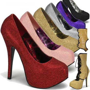 Bordello | Teeze-31G, Detachable Shaft Glitter Pump