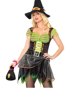 LA-83551, Spider Web Witch Costume (CLEARANCE)