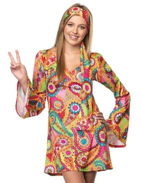LA-J48013, Teen Hippie Chick Costume