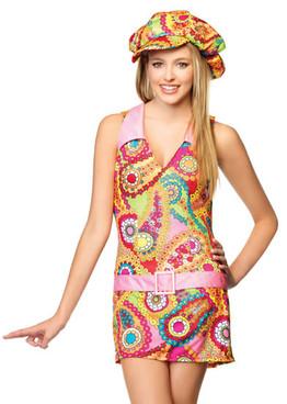 LA-J48026, Teen Groovy Hippie Girl Costume