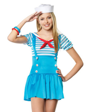 LA-J48016, Teen Sailor Girl Costume