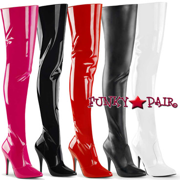 Pleaser Seduce-3010, Thigh High Boots