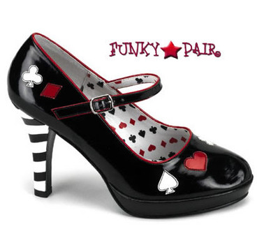 Funtasma CONTESSA-57, Queen Of Heart Platform Shoes