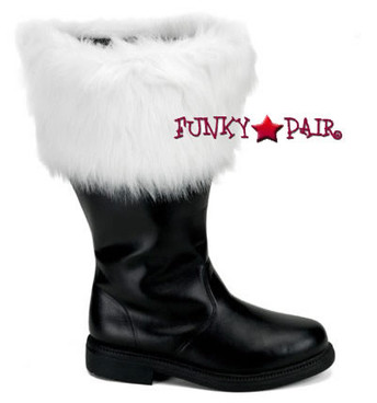 SANTA-106WC, Men Wide Calf Santa Boots Funtasma