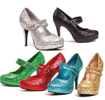 Glitter Mary Jane Pump with 421-Jane-G, Ellie Shoes