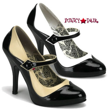 Tempt-07, 4.5 Inch High Heel Two Tone Maryjane Pump